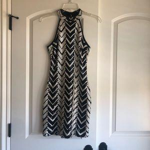 Dresses & Skirts - New black and white sequined minidress